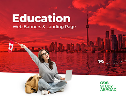 Education Landing Page & Web Banners