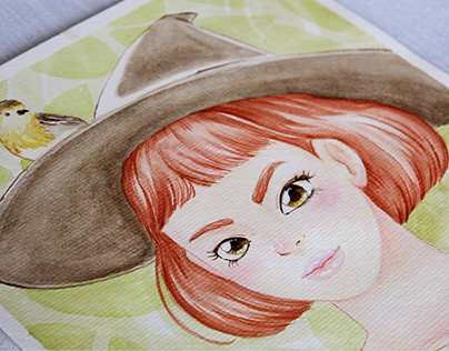Witch Girl - Watercolor Illustration