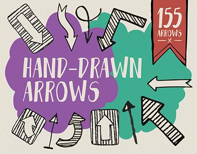 Hand-drawn arrows