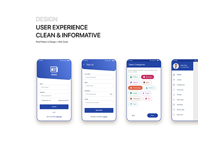 I news mobile app UI DESIGN