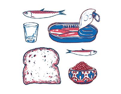 Zakuski: Eastern European Food Posters