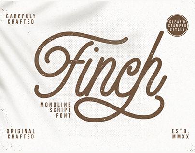 FREE | Finch Monoline Script Font