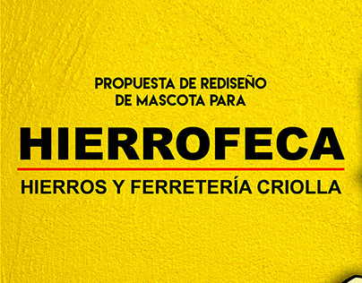 Rediseño: Mascota de HIERROFECA / Character Re Design