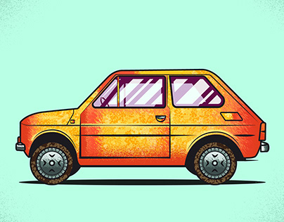 Maluch 126p_Car Illustration