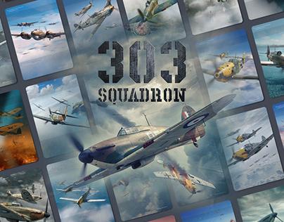 303 Squadron Board Game illustrations