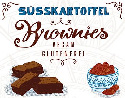 Illustrated Recipe - Sweet potatoe Brownies