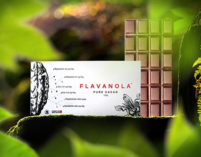 Flavanola pure cacao / logo and packaging / UK
