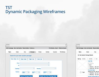 TST Dynamic Packaging Wireframes