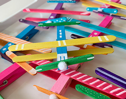 Clothespin Airplane Holiday Decorations