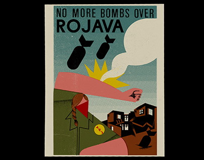No more bombs over Rojava. Postcard