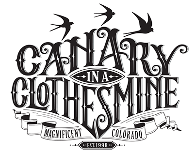 Canary in a Clothesmine branding