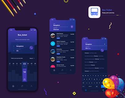 Bus ticket   mobile app concept