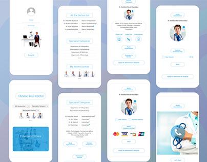 Medicare app UI design