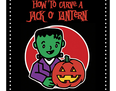 """accordion book for """"how to carve a jack-o-lantern"""""""