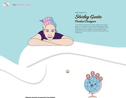 UX UI product design Portfolio Shirley Gueta homepage