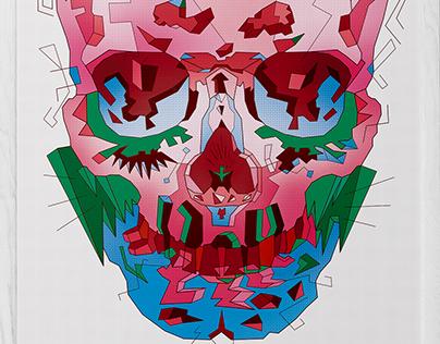 Typohole. Pink Skull. Cosmo