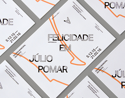 Design for the exhibition A Felicidade em Júlio Pomar