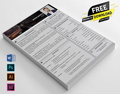Free Job Resume / CV Download