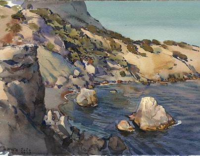 Watercolor plein air. 2020 Crimea