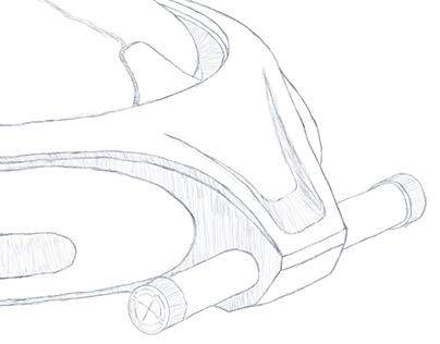 Sketch of watch design detail