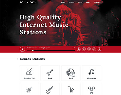 Soulvibes - onepage psd template
