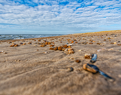 Vast and empty beaches of Jutland, Denmark
