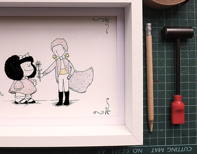 Small Framed Illustrations / Pequeñas ilustraciones