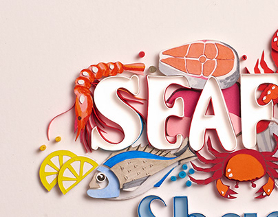 Southern Living Magazine Seafood Editorial illustration