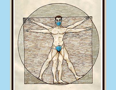 Covidtruvian man