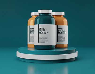 Cometic Bottle Mockup
