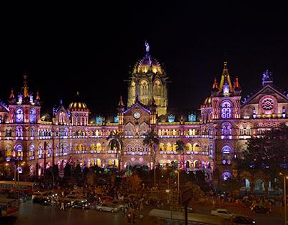 Architectural Illumination of CST Mumbai World Heritage
