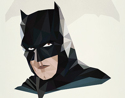 Batman Portrait - Low Poly Art