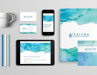 Triton Aquatic Land & Therapies Branding