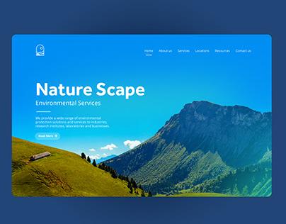 UI concept: Nature Scape.