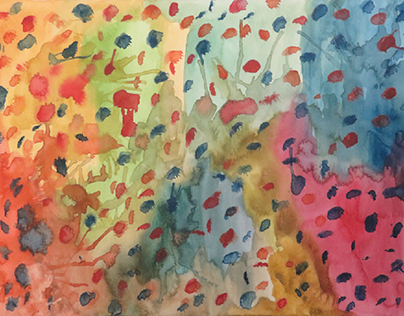 The Covid Series of Watercolours by Kevin Geary