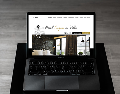New webdesign Hôtel Eugène en ville Paris
