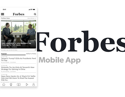 Forbes App   Redesign Challenge #01