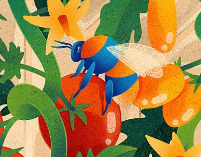 Buzzing tometoes