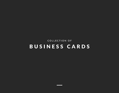 Collection | Business Cards Design