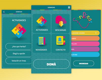SONRISAS - UX & UI For App