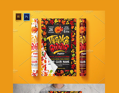 Thanksgiving Party Flyer / Poster