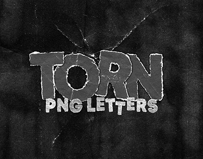 TORN PAPER PNG LETTERS PACK