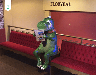 Dinossauro para loja Florybal