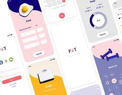 Fait - health tracking app UI/UX design