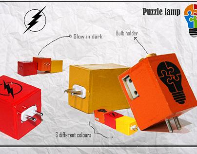 Puzzle lamp.