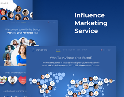 SMM marketplace landing pages + logo