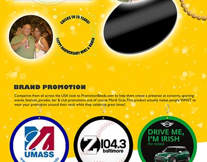 PromotionBeads.com Responsive Website Concept
