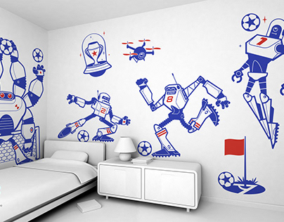 robocup :: football kids wall stickers