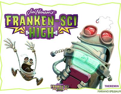Theremin's model sheet. Jim Henson's Franken-Sci High