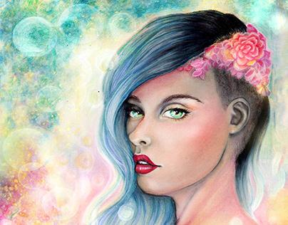 Little Wildling Creative Mermaid Print Series - Sonnora